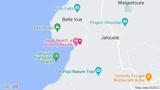 Sugar Beach, A Viceroy Resort Map