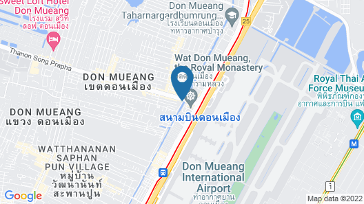 ZZZ Hostel - Don Mueang Airport Map