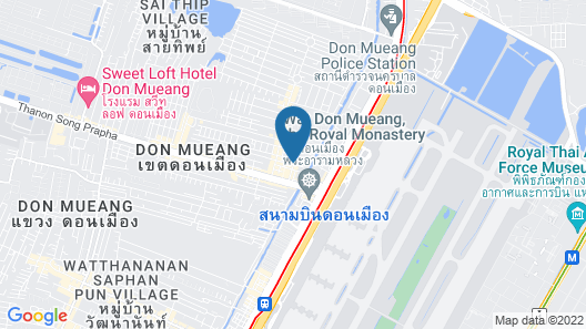 Don Mueang Airport Modern Bangkok Hotel Map