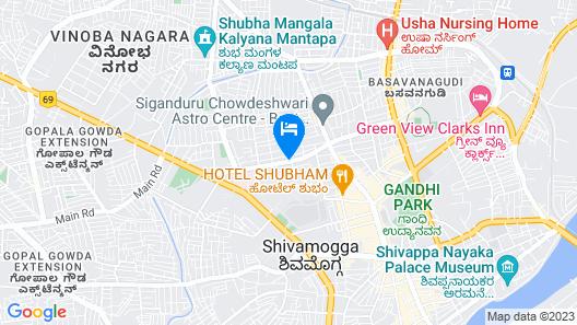 Cliff Embassy Banquet & suites Map