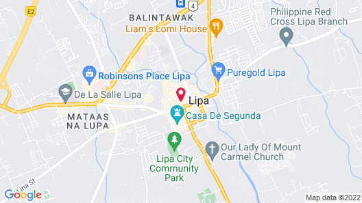 Meaco Royal Hotel - Lipa Map