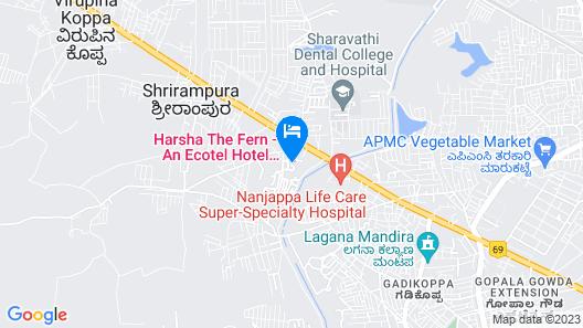Harsha The Fern Shivamogga Map
