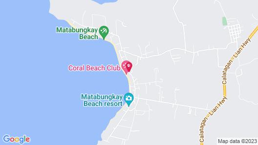 The Coral Beach Club Map