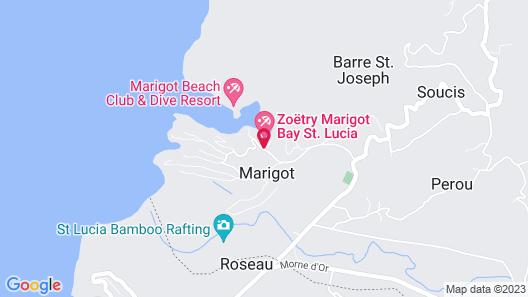 Marigot Bay Resort and Marina Map