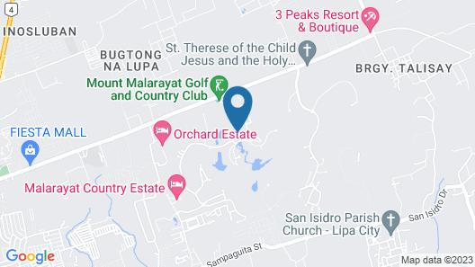 The Suites at Mount Malarayat Map