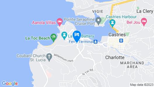 Ocean View Villas Just a Short Walk From La Toc Beach! Map