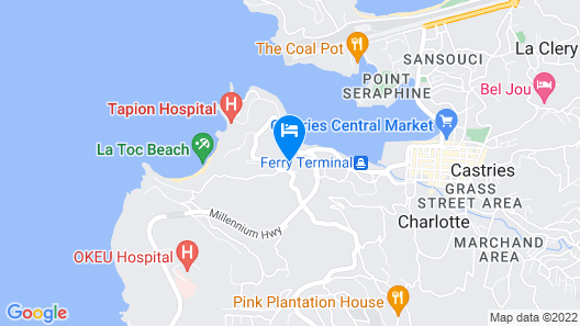 Bayside Villa St. Lucia Map