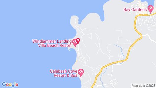 Windjammer Landing Villa Beach Resort Map