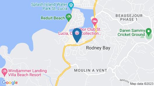 Bay Gardens Inn Map
