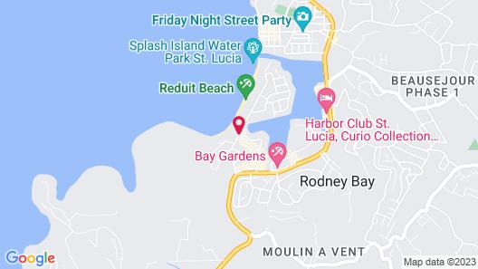 Starfish St Lucia - All Inclusive Map
