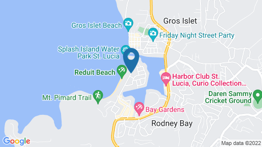Beachcross Villa Apartments Map
