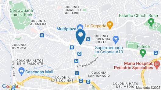 Florencia Plaza Hotel Map