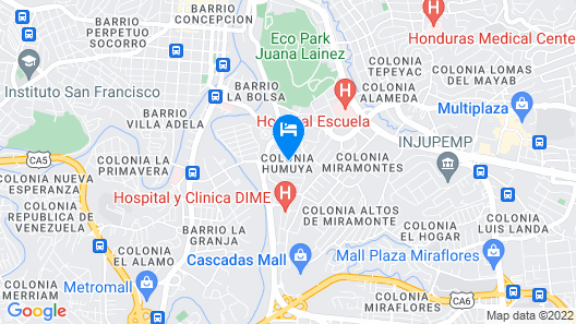 Hotel Humuya Inn Map