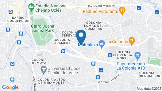 Holiday Inn Express Tegucigalpa Map