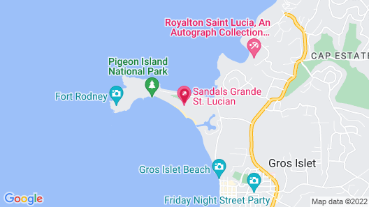 Sandals Grande St. Lucian - ALL INCLUSIVE Couples Only Map