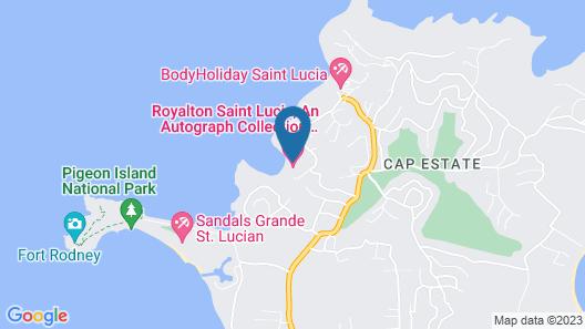 Royalton Saint Lucia, An Autograph Collection All-Inclusive Resort Map