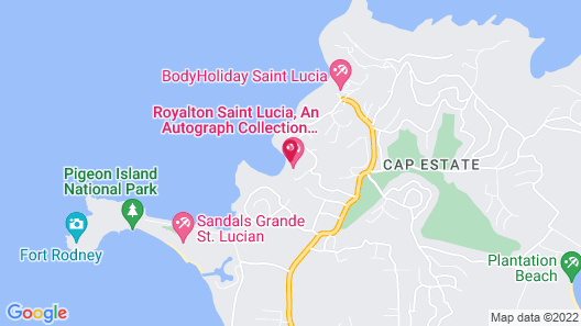 Hideaway at Royalton Saint Lucia - Adults Only - All Inclusive Map