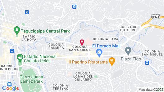 Hyatt Place Tegucigalpa Map