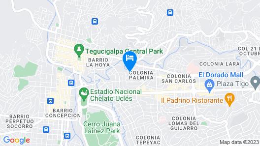 Hotel Plaza Juan Carlos Map