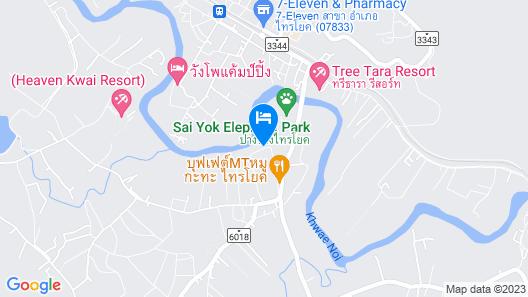 The Green House Kanchanaburi Map