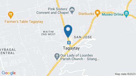 Taal Vista Hotel Map
