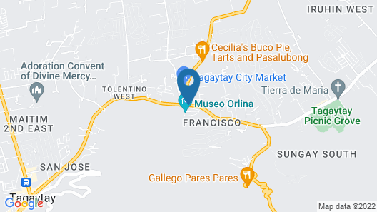 Tagaytay Econo Hotel Map