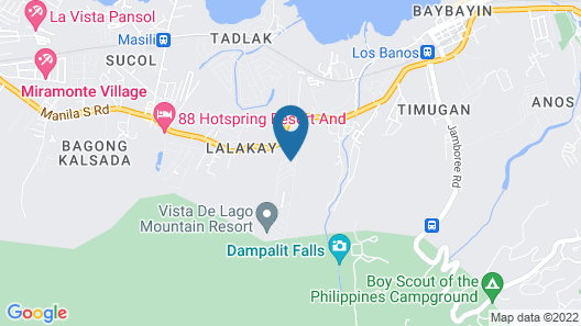Makiling Heights Panoramicview Rest House Map