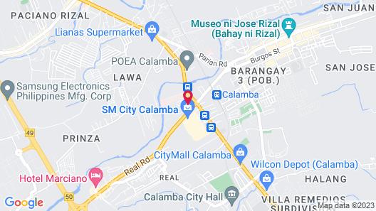 Astrotel Calamba Map