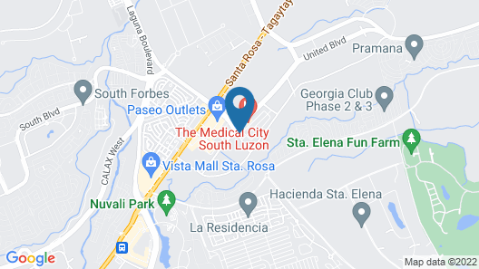 Paseo Premiere Hotel Map