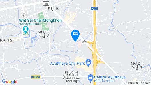 OYO 952 Ocean Gold Card Ayutthaya Map