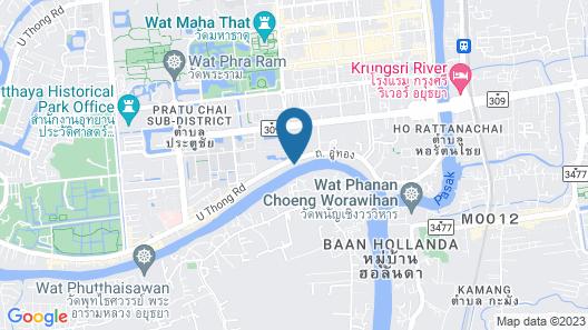 Ban U Thong Accommodations Map