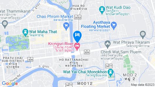 Ayothaya Riverside Hotel Ayutthaya Map