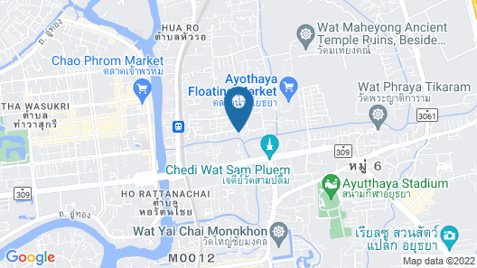Ayutthaya Antique Homestay Map