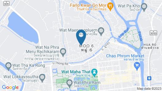 Plus Hostel Ayutthaya Map