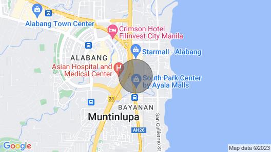 Cozy and Comfy Studio at Alabang Muntinlupa City Map