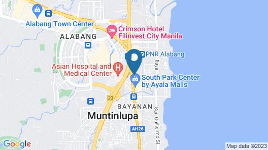 Cozy Studio in Alabang Muntinlupa Map