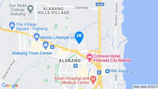 The Bellevue Manila Map