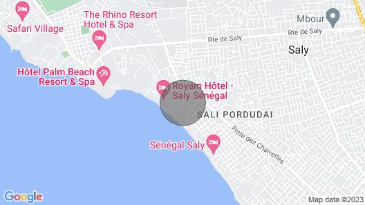 SALY RESIDENCE LA PALMERAIE PRETTY VILLA, PRIVATE BEACH 30 METERS   Map