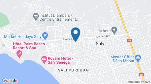 Melia Hotel Senegal Map