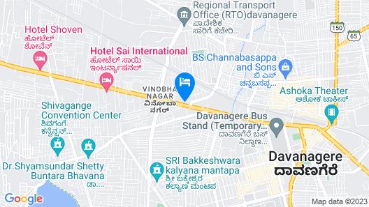 Hotel Pooja International Map