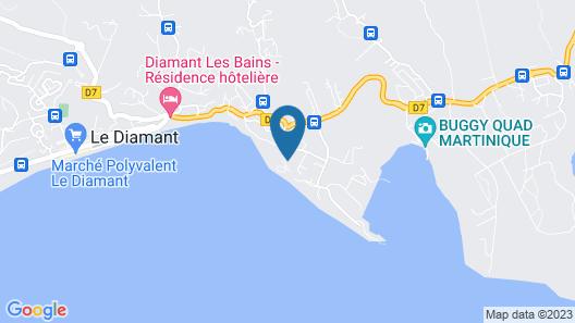 La Residence Marine Hotel Diamant Map