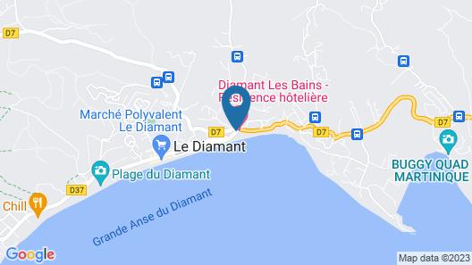 Diamant les Bains Résidence Hôtelière Map