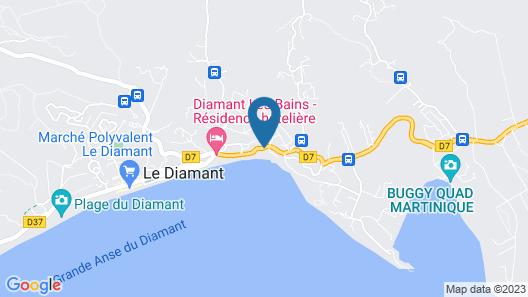 Diamant Beach Map