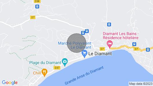 Apartment in Villa at Diamant Map