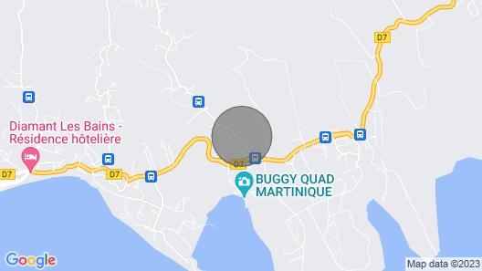 Villa la Douce Créole. Air-conditioned Rooms / sea View / / 1 K m Beach Map