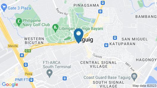 RedDoorz @ DBuilders Rooms Ph1 Taguig Map