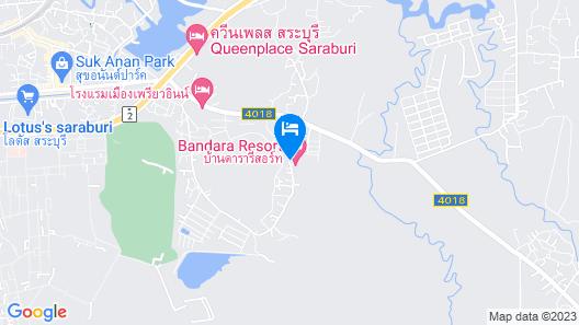 Baandara Resort Saraburi Map