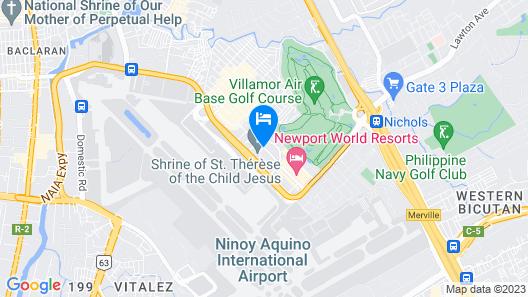 Belmont Hotel Manila Map