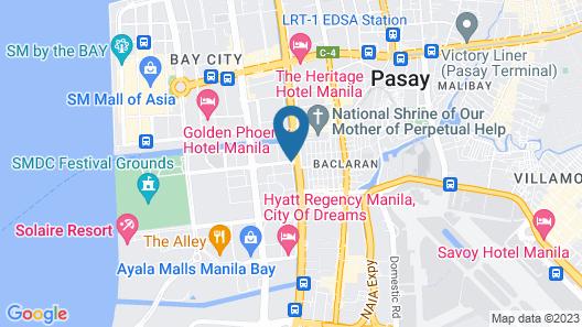 Red Planet Manila Aseana City Map