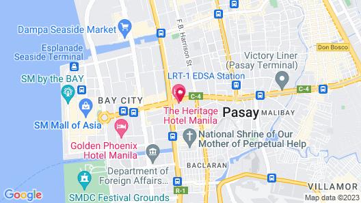 The Heritage Hotel Manila Map